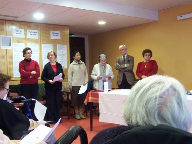Messe à la maison de retraite des Quatre-Chênes 12 Février 2010